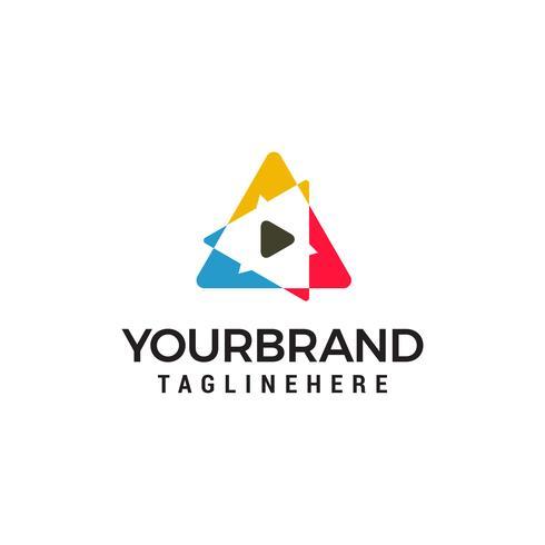 triangle Smart Media Logo design concept vecteur