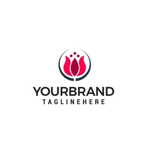 tulipes logo design concept template vecteur