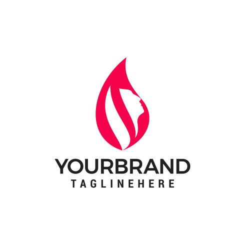 Logo femme visage beauté tête logo. Utiliser pour salon de beauté, spa, conception de cosmétiques, etc. vecteur