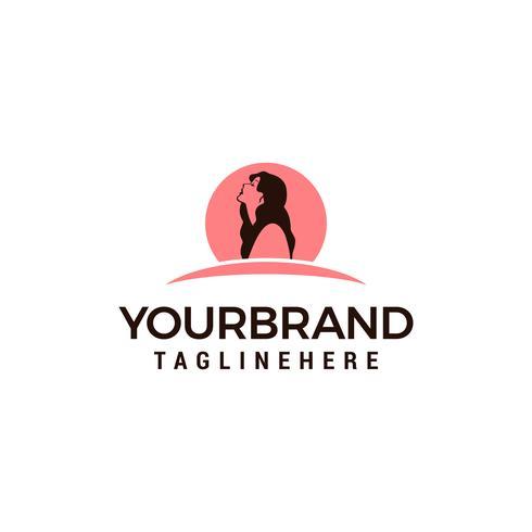 Logo de femme de beauté vecteur