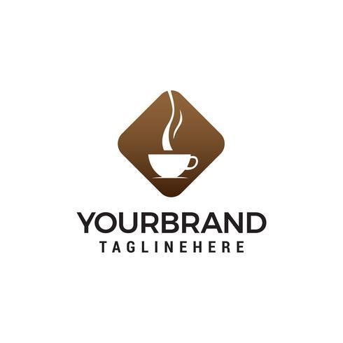 café et thé verre logo design concept template vecteur