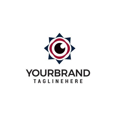 oeil logo design concept template vecteur