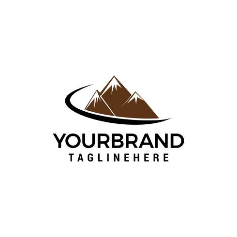 Mountain logo design concept template vecteur