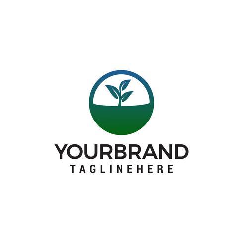 Nature leaf logo design concept template vecteur