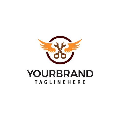 clé réparation logo design concept template vecteur