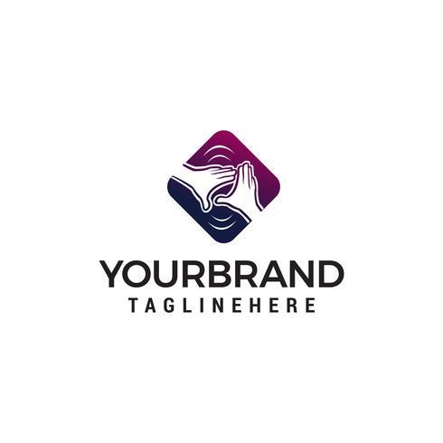 vecteur de soins de la main logo design concept template