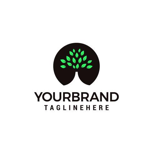 Forêt verte, arbre Logo designs Template vecteur