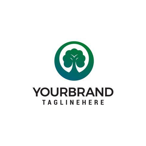 arbre vert lanscape logo design concept template vecteur