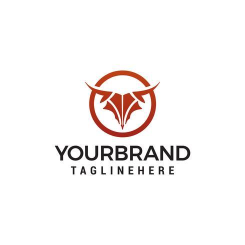 résumé tête modèle logo design concept vecteur