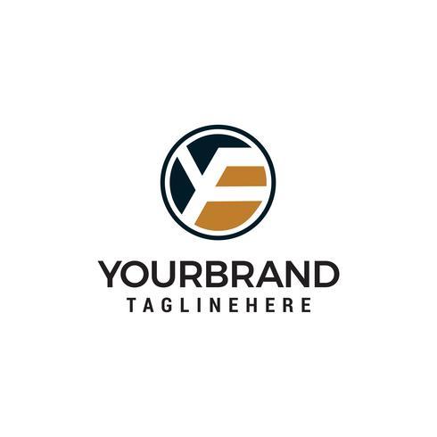 lettre yf logo design concept template vecteur