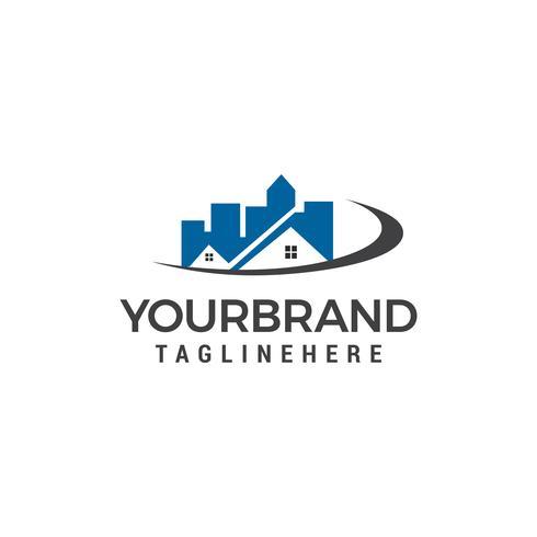 concept de toit abstrait pour les agences immobilières modèle de conception de logo vectoriel