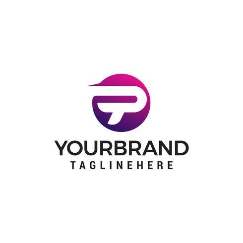 lettre p sphère logo design concept template vecteur