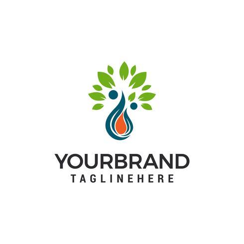 goutte d'eau feuille eco Logo Template vector illustration design