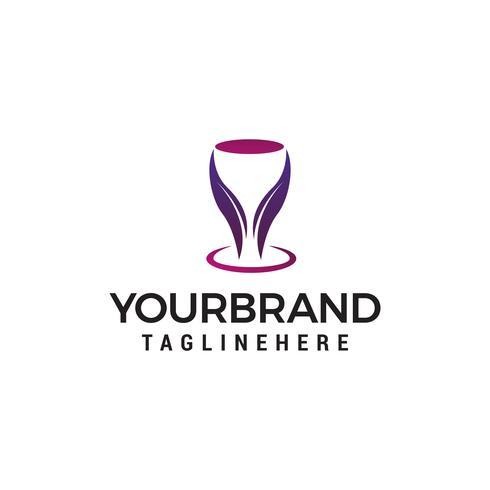 Logo de bar discothèque, vecteur de verre concept design concept