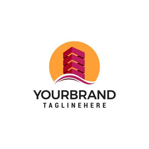 Modèle de vecteur de conception architecte construction bâtiment logo