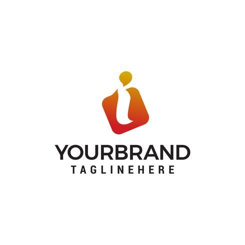 lettre i logo design concept template vecteur