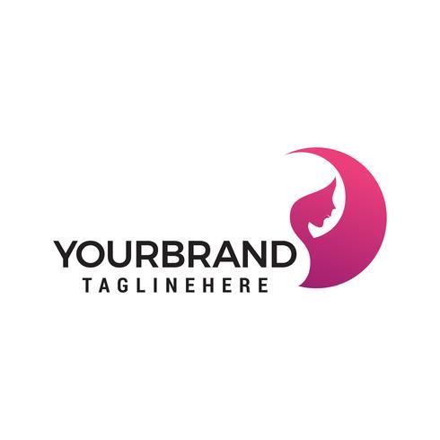 femmes visage beauté logo design concept template vecteur