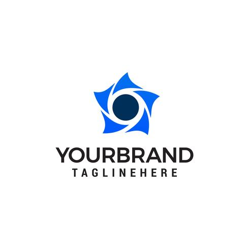 star rotation logo design concept template vecteur