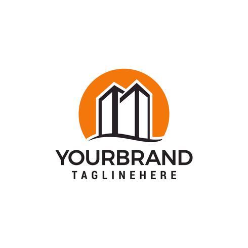 construction de ville modèle de vecteur de conception de logo