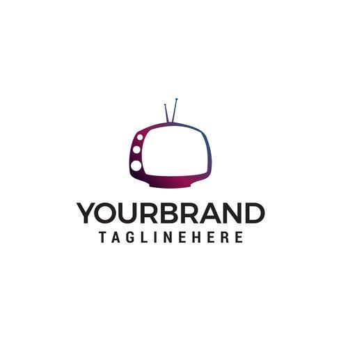 concept de design logo télévision multimédia vecteur