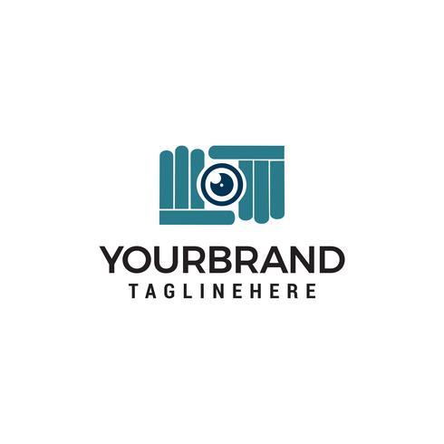 appareil photo photographie shoot logo design concept template vecteur