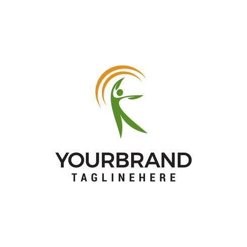 santé humaine Logo Création de modèles vecteur