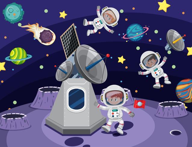 Astronaute dans l'espace vecteur