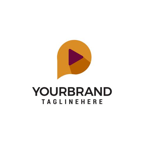 modèle de média logo design concept vecteur