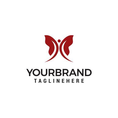 Concept de design de logo papillon vecteur