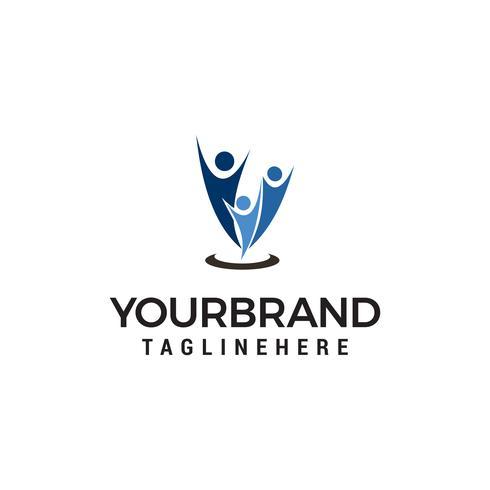 famille heureuse Logo Création de modèles vecteur