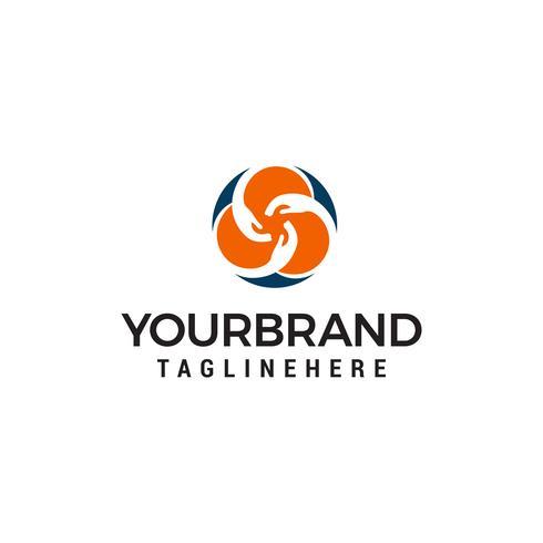 communauté main logo design concept template vecteur