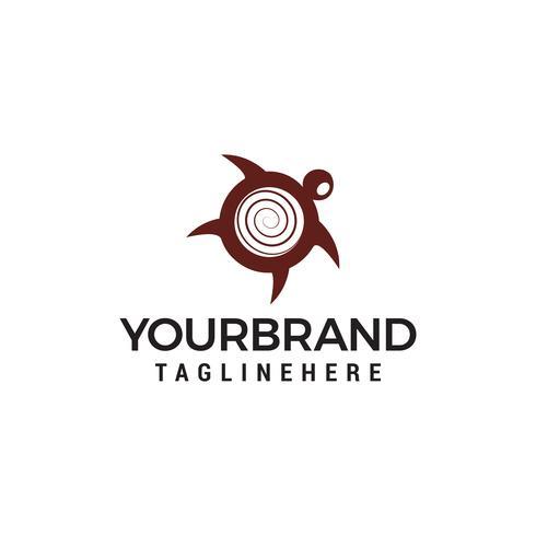 Tortue logo design concept vecteur