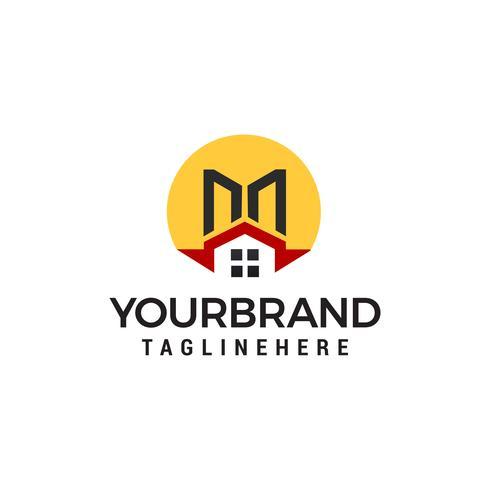 Logo Immobilier, propriété et construction vecteur