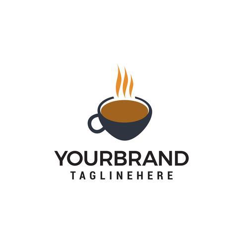 tasse à café logo design concept template vecteur