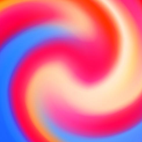 Cercle abstrait fluide créatif multicolore arrière-plan flou vecteur