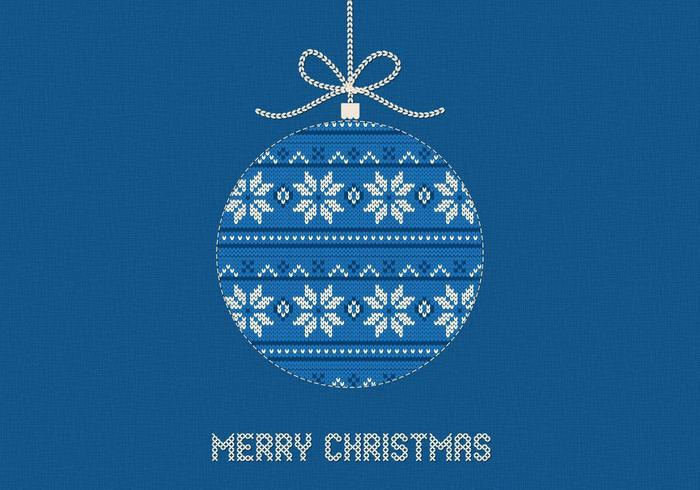 Fond de vecteur bleu tricoté joyeux Noël
