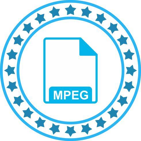 Icône de vecteur MPEG