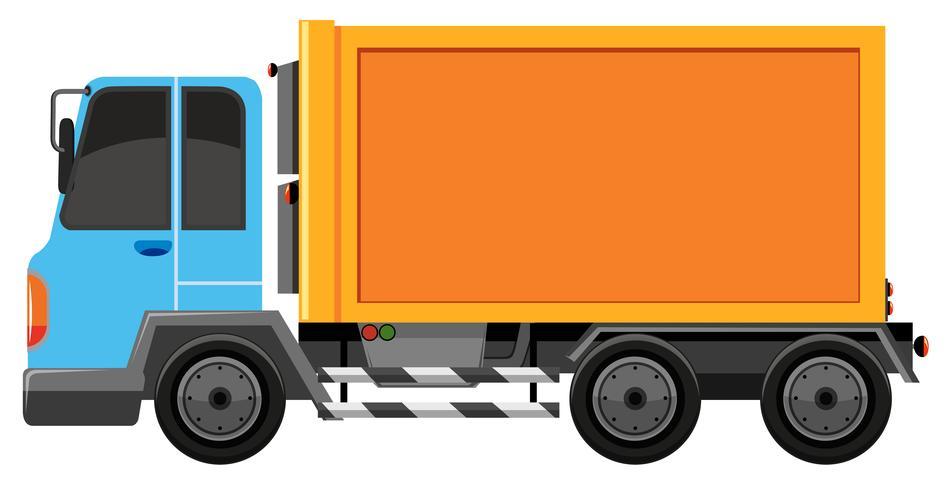 Camion Bleu Et Orange Isole Telecharger Vectoriel Gratuit Clipart Graphique Vecteur Dessins Et Pictogramme Gratuit