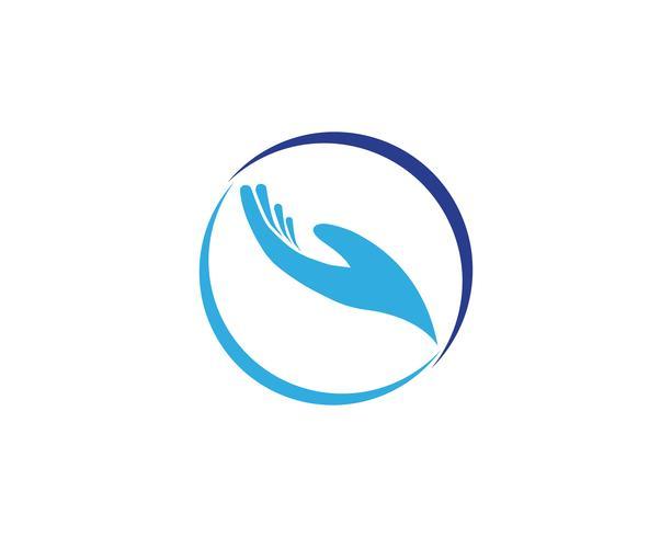 Icônes de modèle logo aide main et symboles vecteur