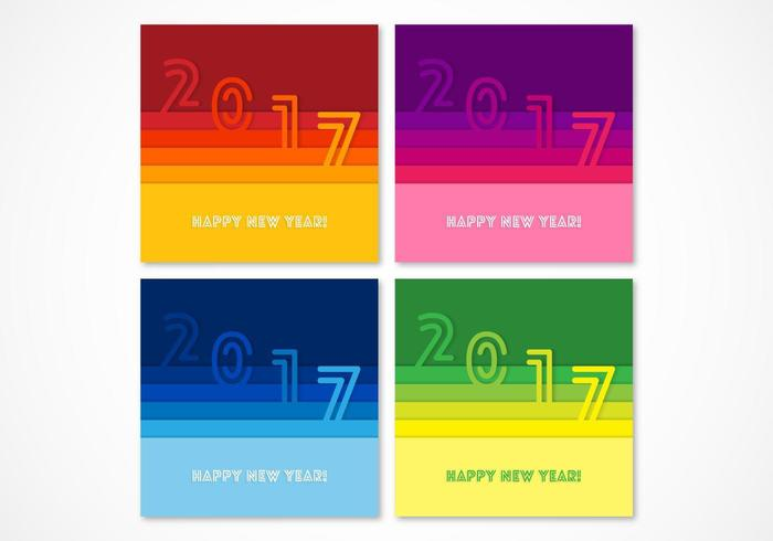 Papier coloré 2017 Vector Backgrounds Pack