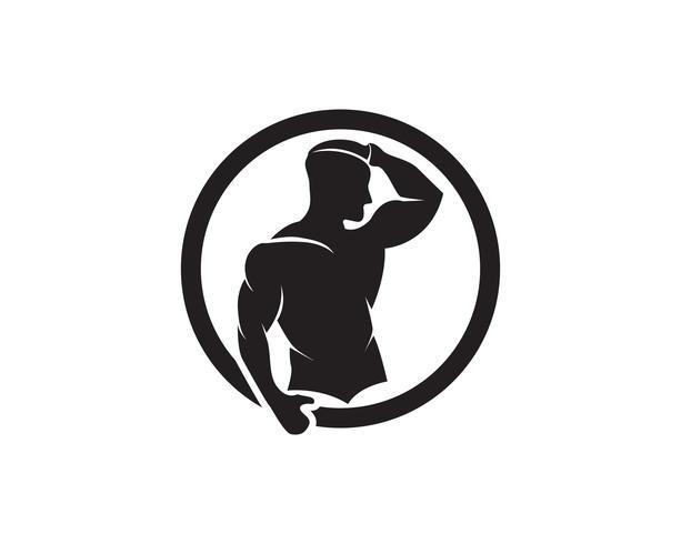 Objet de vecteur et icônes pour étiquette de sport, badge de gymnase, création de logo de remise en forme
