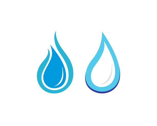 Goutte d'eau Logo Template vecteur