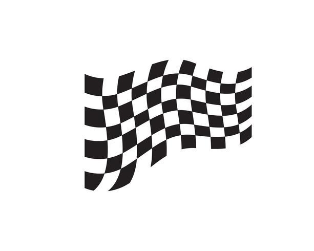 Icône d'indicateur de course, logo de conception simple vecteur