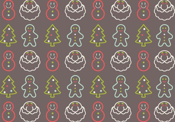 Pack vectoriel de motif de Noël
