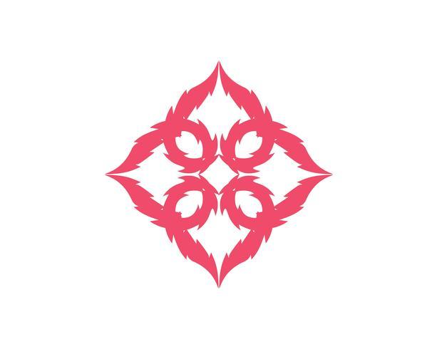 Logo et modèle de coeur d'amour vecteur