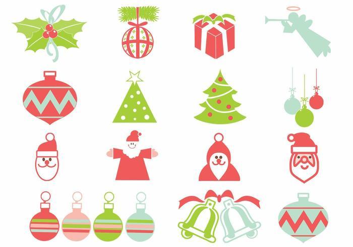 Ensemble d'éléments vectoriels de Noël vecteur