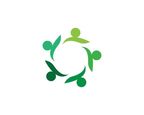 Vecteur de logo de gens de la communauté