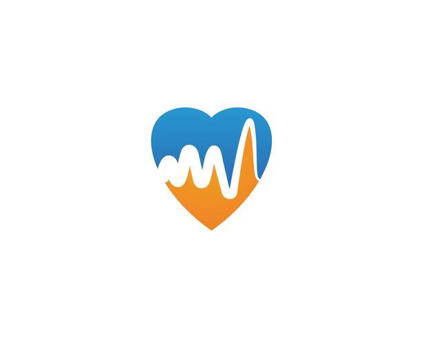 Vecteurs de logo de ligne hôpital battement de coeur vecteur