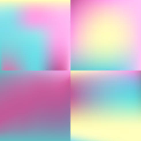 couleur douce floue fond ensemble. conception de couleur pastel vecteur
