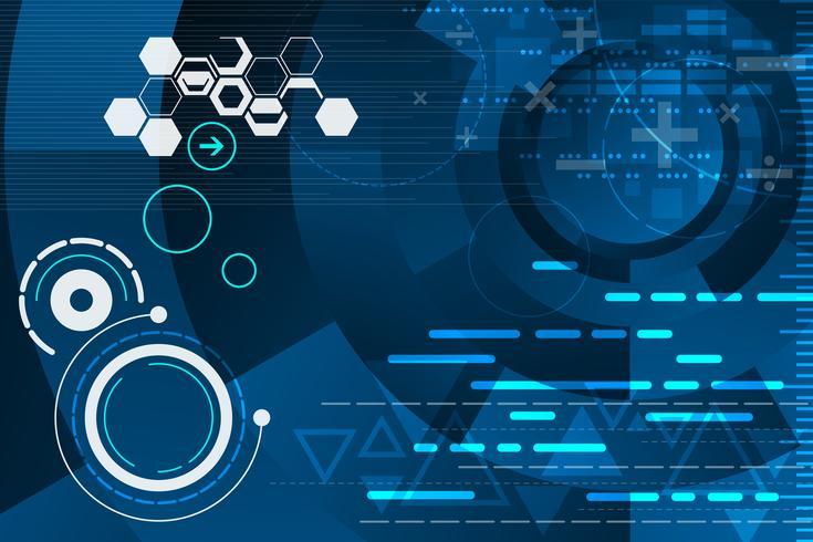 Technologie dans le concept de calcul. vecteur